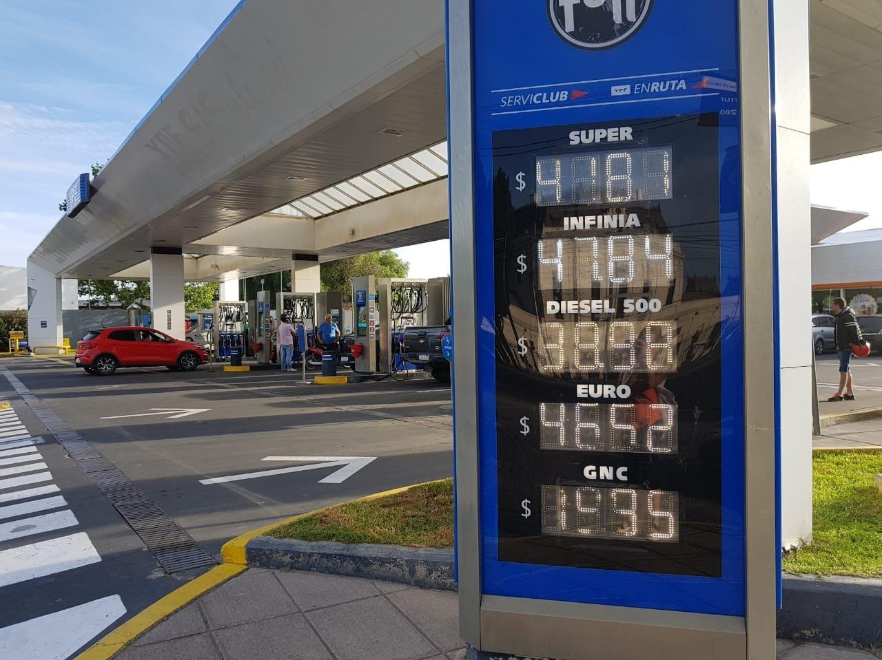 YPF, Shell y Axion aumentaron sus precios en San Luis y el corazón de Súper promedia los $ 42